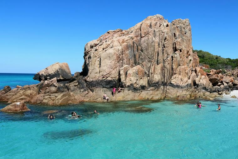 Swimming at Castle Rock Dunsborough